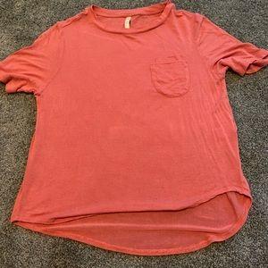 Aeropostale pink soft pocket tee shirt